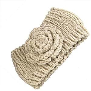 Yahee Haarband Stirnband gestrickt Grobstrick Headband Kopfband (White)