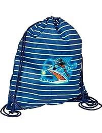 Die Spiegelburg 14549 Bolsa de Cuerdas Bolsa de Gimnasio Gym Capt'n Sharky en el Fondo del Mar Azul 31 x 34 cm