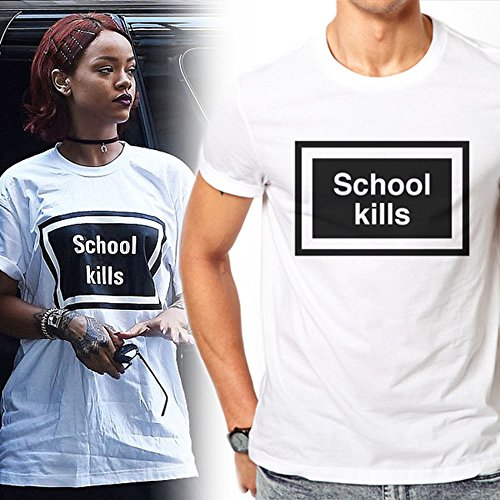 School Kills As Worn By Rihanna T-shirt Medium