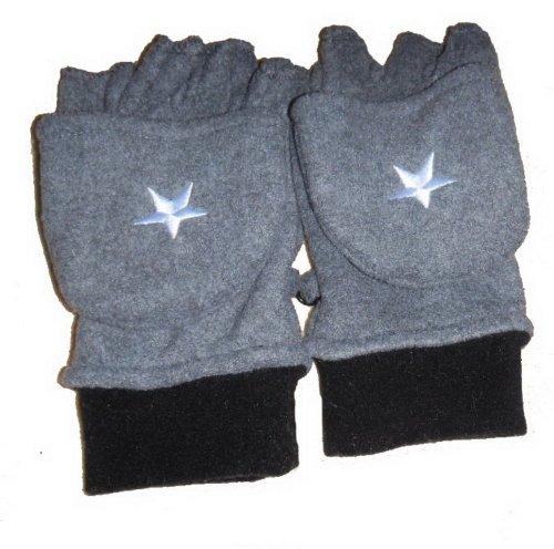Sterne Herren Fleece Winter-Handschuh-Halbfingerhandschuhe Cabrio-Handschuhe
