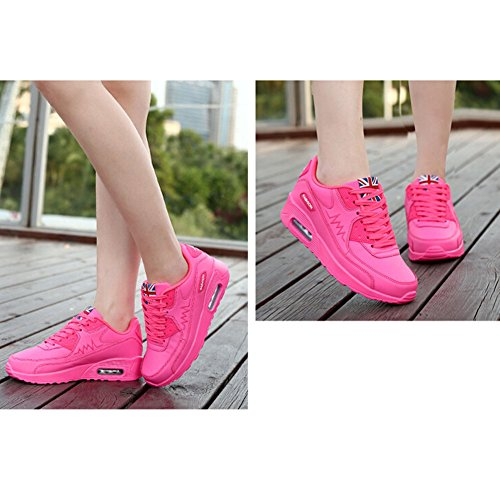 Padgene® Femme Baskets Course Gym Fitness Sport Chaussures Air Rose