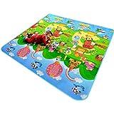 Tappeto per Bambini Gioco Doppia Faccia Impermeabile Grande per Casa e All'aperto 120cmX180cmX0.5cm