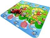 Tappeto per Bambini Gioco Doppia Faccia Impermeabile Grande per Casa e All'aperto 120cmX180cmX0.5cm immagine