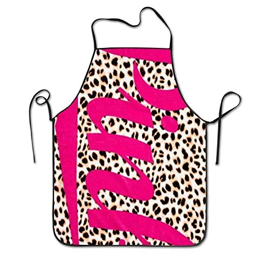 (rwwrewre Kitchen Bib Apron Pink Adult Bibs Adjustable for Cooking Baking Kitchen Restaurant Crafting BBQ Unisex)