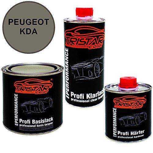 Preisvergleich Produktbild 1,25 Liter 2K Lack Set PEUGEOT KDA GRIS DOLOMITES M. / GRIGIO DOLOMIT M. ab 2002 - Profi Autolack spritzfertig & Klarlack & Härter
