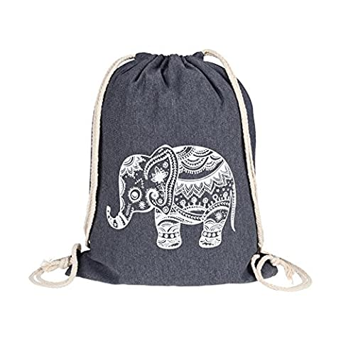 Turnbeutel – Sportbeutel – Beutel/Tasche mit Elefanten Aufdruck - Verschiedene