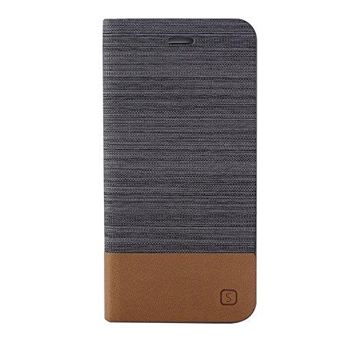 Phone case & Hülle Für IPhone 6 / 6S, horizontaler Flip-Segeltuch-Leder-Kasten mit Einbauschlitz u. Halter ( SKU : S-IP6G-0886E ) S-IP6G-0886A
