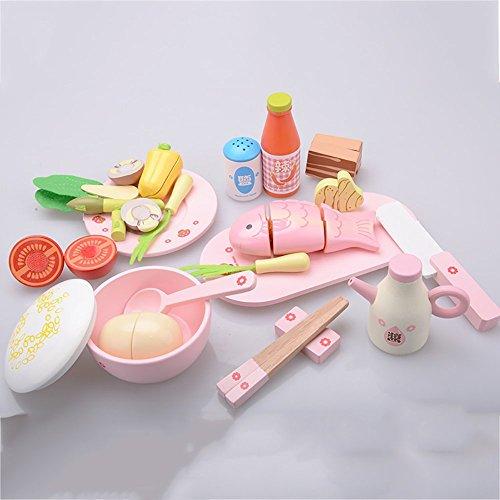 LZFASD Juguetes Vegetales para Niños Juguetes De Imaginación Juguetes De Velcro Puzzles Rompecabezas Rompecabezas Chica 3+ Regalo para Bebés Rosa