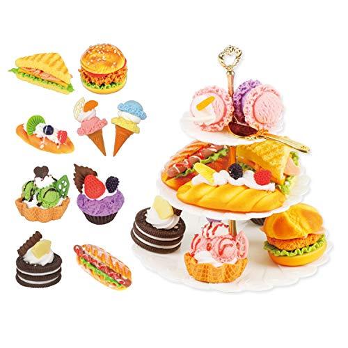 QPP-CL Spielzeug Küche Französisch Dessert, Küche Spielzeug Brot Kegel Sandwich Frühkindliche Bildung Der Frühen Kindheit Dessert, Geburtstag, Weihnachten Geburtstagsgeschenk