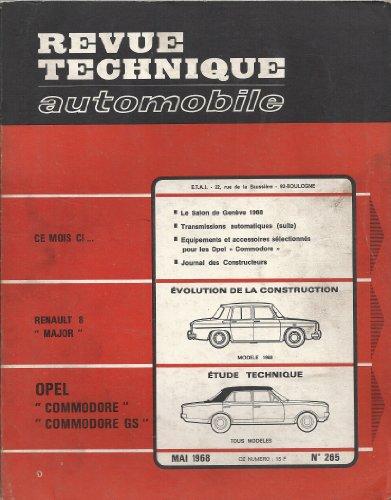 t u00e9l u00e9chargement pdf revue technique automobile n u00b0 265 opel