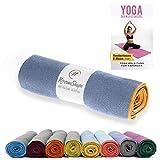 NirvanaShape ® Asciugamano da Yoga Antiscivolo | Hot Yoga Towel con Nodi Antiscivolo | Asciugamano da Yoga igienico per Tappetino [ 185 x 63 cm ]