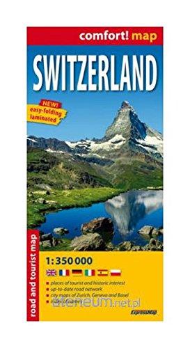 Suiza, mapa de carreteras plastificado. Escala 1:300.000. ExpressMap. por VV.AA.