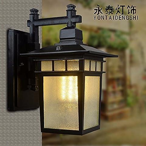 GaoHX retrò impermeabile illuminazione Lampada da parete