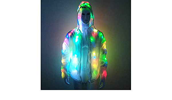 Color : Black , Size : S Veste R/éfl/échissante Hiver lumineux r/éfl/échissant chaud /épais Doudounes hommes et les femmes Luminous V/êtements de sport Casual pour le Cyclisme en Plein AirSports