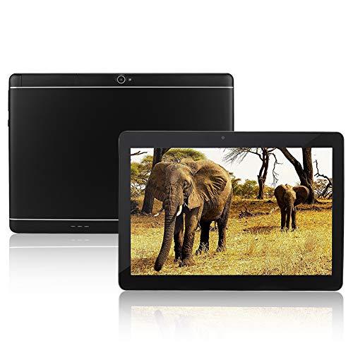 ASHATA 10,1 Zoll Tablet-PC, HD IPS Bildschirm MediaPad Tablet 1G+16G Speicher Dual SIM Dual Standby Tablet,Tragbar Dual-Kamera Quad Core 3G Anruf Tablet Für Android 4.44 EU Stecker(Schwarz) Flash 2 Voicemail