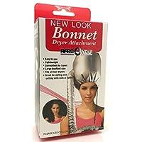 Hair Dryer Soft Hood Bonnet Attachment Dryer Portable Bonnet Professional Silver by Afrocosmetics4u® - Boxed