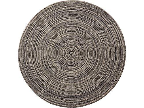 Creative Tops redondo tejido alfombra, color marrón/crema