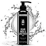 The Real Man - Detergente e balsamo per barba, 200 ml Shampoo da barba 100% naturale e biologico, pulisce e ammorbidisce con estratti di aloe vera, tulsi, foglie di neem e liquirizia.