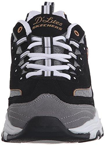 Skechers  D'LitesCentennial,  Sneaker donna Black/Gold