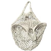 UEETEK Bolsas reutilizables compras bolsas de mercado cadena bolsa playa bolsa (blanco) de la red