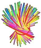 Set 100 Knicklichter bunt Knicklicht Armbänder Verbinder Leuchtstäbe Pink