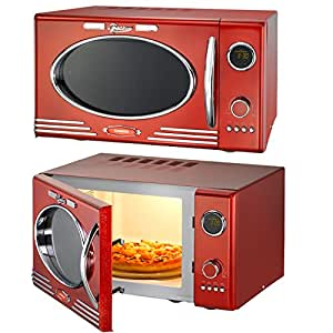 melissa rouge classico four micro ondes grill design r tro microwave fonction grill. Black Bedroom Furniture Sets. Home Design Ideas