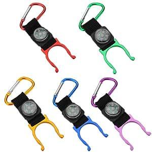 Camping Eau mousqueton Porte Bouteille clip ceinture avec Compasse Boussole