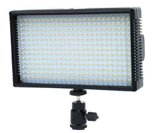 Polaroid 312 Hochleistungs LED Kamera / Camcorder-Videoleuchte mit variabler Farbtemperatur (3200K-5600K) & Helligkeitsregler (beinhaltet Akku, Ladegerät, Filter, Tragetasche) für die Panasonic SDR-S70, H100, T70, HCD-HS80, HS900, SD40, SD80, SD90, SD800, SD900, SDX1H, TM40, TM90, TM80, TM900, TM900, K Camcorder
