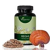 Extracto de Reishi de Vegavero | Sistema inmunológico + Antioxidante + Cansancio + Estrés + Ansiedad + Colesterol + Desintoxicante + Alergias | 120 cápsulas | Producto alemán | Instrucciones en español | Vegano, sin gluten