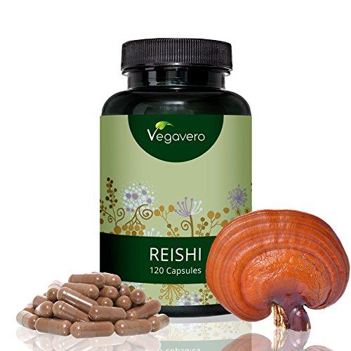 Reishi Vital-Pilz Extrakt Vegavero | 500 mg | Laborgeprüft | 120 Kapseln | Hochdosiert | >20% bioaktive Polysaccharide | Vegan und Ohne Zusatzstoffe