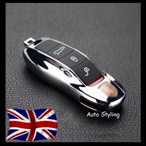 Schlüsselgehäuse für Porsche-Fernbedienung, Schutzhülle für Autoschlüssel, verschiedene Porsche-Modelle chrome (Chrome Remote)