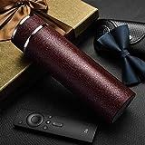 YZGS Acero inoxidable 304 interno y externo taza de tévacío vaso de agua 480ml/Rojo marrón