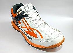 PRO ASE Court Badminton Shoe White/Orange/Black (7)