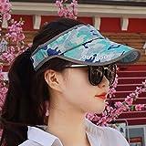 XINQING-MZ Femmina Hat cappellino svuotare la parte superiore del cappuccio di mimetizzazione visiera ombreggiati sun hat cap giovane cap uomini e donne generic, blu