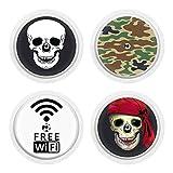 4er Set - Sticker Aufkleber für FreeStyle Libre Sensoren