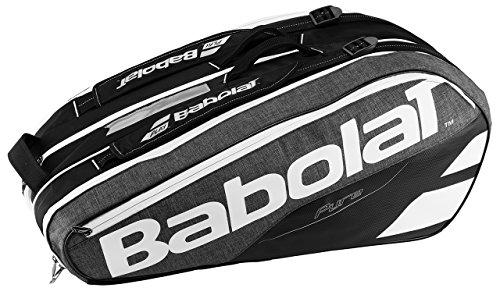 Babolat Sac de Transport pour Raquettes de Tennis avec 9 Poches pour Raquette - 68 x 40 x 20 cm - Gris