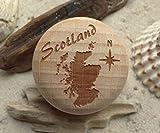 Möbelknauf Schottland Gravur Buche Möbelknopf