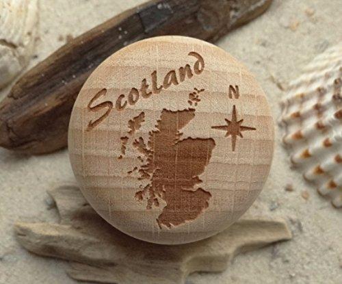 Möbelknauf Schottland Gravur Buche Möbelknopf - Britische Möbel