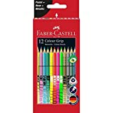 Faber-Castell 201569 Buntstift Sonderfarbset, Colour Grip, 12er Etui