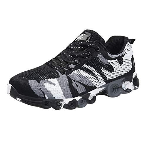 Schuhe Herren Sneaker | Holeider Laufschuhe Sportschuhe Mode | Turnschuhe Freizeitschuhe Camouflage Leichte Bequem Fitnessschuhe für Männer Schuhe Mesh Freizeit Outdoor