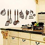 Deanyi Stickers muraux Stickers muraux Amovibles murales Stickers muraux Ustensiles de Cuisine Stickers Muraux étanche Décor Décoration Cuisine pour Salon de lit
