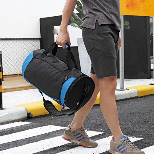 LAIDAYE Sport-und Fitness-Yoga-Tasche Packtaschen Sporttasche Fitnesstasche Große Kapazität Handtasche Black