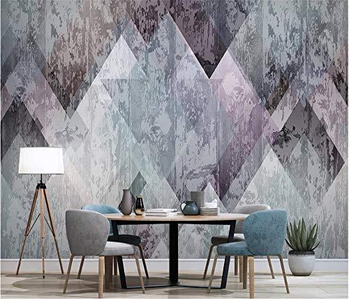 VVBIHUAING 3D Dekorationen Tapete Aufkleber Wand Wandbilder Alte Abstrakte Geometrische Vertikale Stangenraute Schlafzimmer Wohnzimmer Sofa Kunst Kinder Tv (W) 250x(H) 175cm