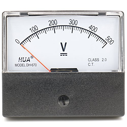 Dc Analog-voltmeter (Heschen Voltmeter, rechteckig, analoge Anzeige, Volt-Spannungsmesser, 670Stil, DC 0-500V, Klasse 2.0)