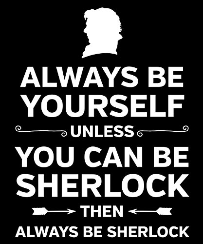 -- Always be Sherlock -- Boys T-Shirt Schwarz