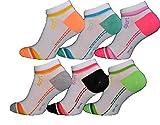 12 Paar Damen Mädchen Sneaker Socken Füßlinge Baumwolle (35-38, Muster 2)
