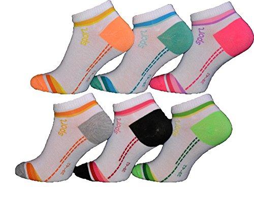 BestSale247 12 Paar modische Damen Mädchen Herren Sneaker Socken Füßlinge Baumwolle 35-38 ; 39-42