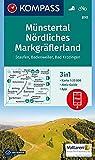 Münstertal, Nördliches Markgräflerland, Staufen, Badenweiler, Bad Krozingen: 3in1 Wanderkarte 1:25000 mit Aktiv Guide inklusive Karte zur offline ... 1:25 000 (KOMPASS-Wanderkarten, Band 890)