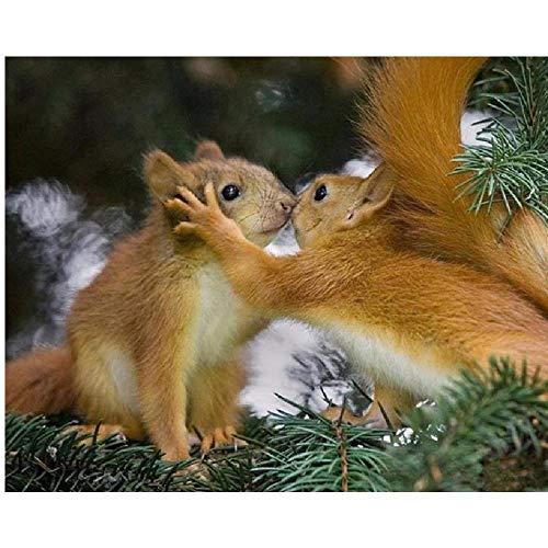 ile 3D Erwachsene Puzzles Baum Mit Zwei Küssender Eichhörnchen Art DIY Leisure Game Spielzeug Heimtextilien ()