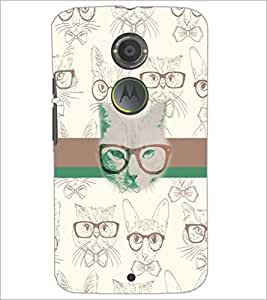 PrintDhaba Funny images D-5960 Back Case Cover for MOTOROLA MOTO X2 (Multi-Coloured)